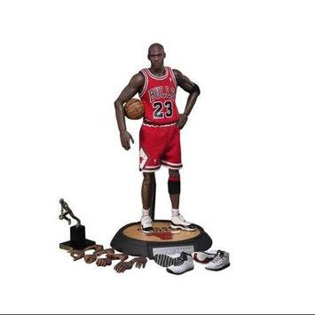 Eforcity NBA Michael Jordan Away Red Jersey 1/6 Figure with Air Jordan Shoes