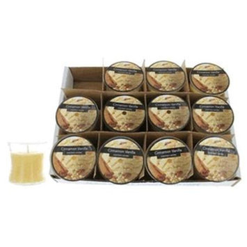 Candle c25hgcv 22.5 Oz. Hour Glass Total - Cinnamon Vanilla Pack 12