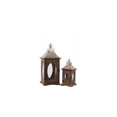 Urban Trends Collection Urban Trends Wooden Lantern with Hooks - Set of 2