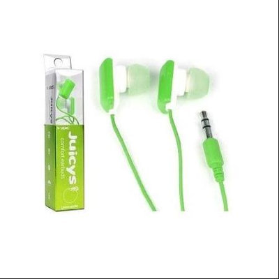 VIBE Juicys Comfort Earbud Stereo Headphones (Green Apple)
