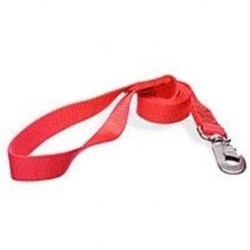 Aspen Pet 20006 Nylon Single Red Leash, 4 Ft. x 1 In.