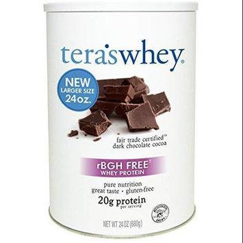 Teras Whey Tera's Whey rBGH Free Whey Protein Dark Chocolate Cocoa 24 oz