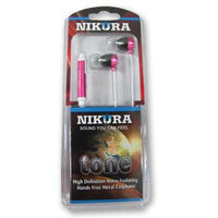 Cam Consumer Products, Inc. Nikura TONE EARBUDS Pink - CAM CONSUMER PRODUCTS, INC