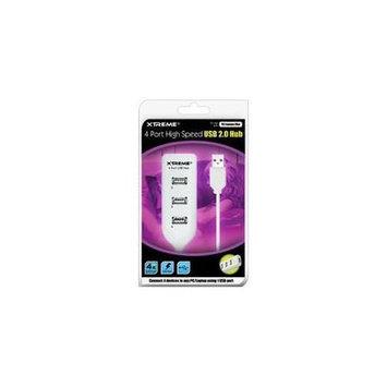 Xtreme Cables White/Black Foldable DJ Headphones