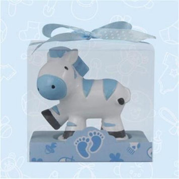 De Yi Enterprise De Yi 11002-BL Safari Zebra Candle Favors in Blue