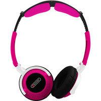 Sentrysafe Headphone, full Size, pink - Folding, rubber Finish - Ho403