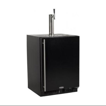 MARVEL Half-Barrel Black Digital Built-In Kegerator ML24BSS2RB