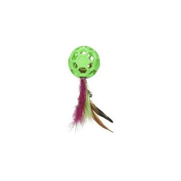 Cataction Feather Ball with Bell Cat Toy