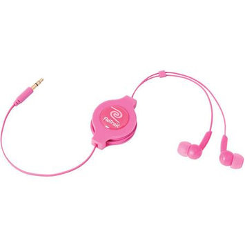 Emerge Technologies Retrak Emerge Etaudiopnk Retractable Stereo Earbuds (Pink)