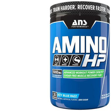 ANS Performance Amino HP Advanced BCAA Caffeine Free Icy Blue Razz, 360 Gram