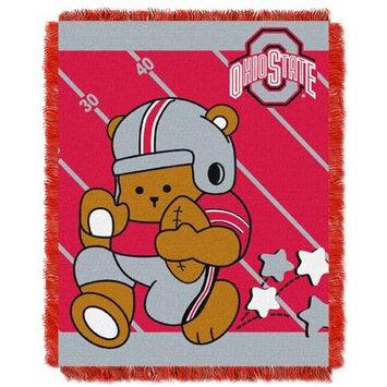 Ohio State Buckeyes NCAA Triple Woven Jacquard Throw (Fullback Baby Series) (36x48)