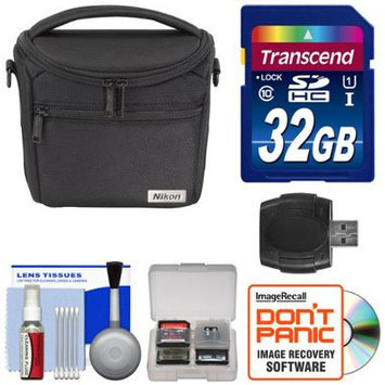 Nikon 17009 Series 1/Coolpix Compact Camera Case with 32GB Card + Kit for 1 J4 J5 V3 AW1 L840 P530 P610 P900