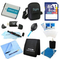 Special 8GB Card and NP-BN1 Battery Value Kit for Sony DSC-W650, W610, WX50, TX20, WX150