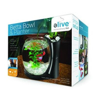 Elive Betta Bowl And Planter .75 Gallon Black 01001