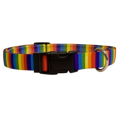 Yellow Dog Design RS102M Rainbow Stripes Standard Collar - Medium