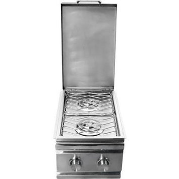 Rcs Gas Grills Stainless Steel Double Side Burner - NG