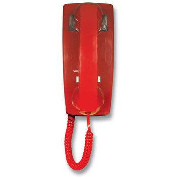 Viking No Dial Wall Phone With Ringer Red K1500PW