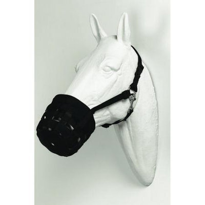 Best Friend Equine Deluxe Horse Grazing Muzzle Black - BF01