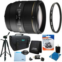 Sigma 85mm F1.4 EX DG HSM Lens for Nikon AF Lens Kit Bundle