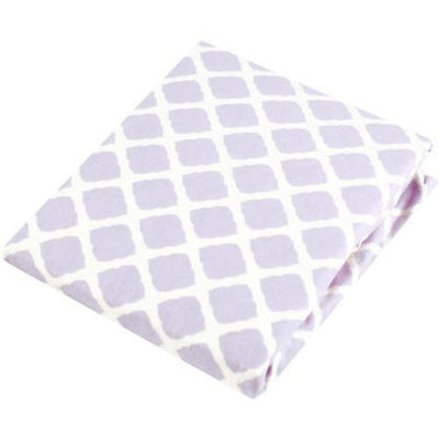 Babies R Us Kushies Playpen Fitted Sheet - Lilac Lattice