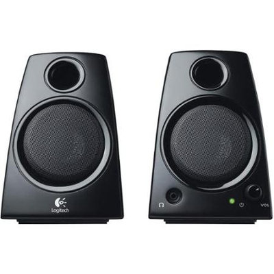 Logitech Z130 2-Piece 3.5mm Black Compact Computer Multimedia Speaker Set