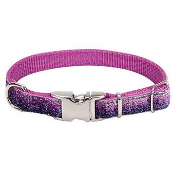 Coastal Pet Attire Sparkles Dog Collar - Purple - 5/8 in. x 8 in. - 12 in.