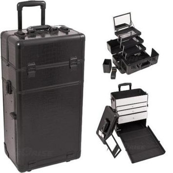 Just Case Sunrise I3563CRAB Black Crocodile Trolley Makeup Case