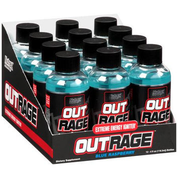 Nutrex Research 2710121 Outrage Energy Shot Blue Raspberry Pack 12
