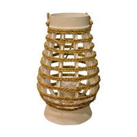 Fantastic Craft Spiral Lantern, Natural, 14 H x 8 W x 8 D