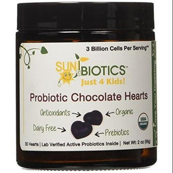 Sunbiotics - Just For Kids Probiotic Chocolate Hearts - 30 Hearts