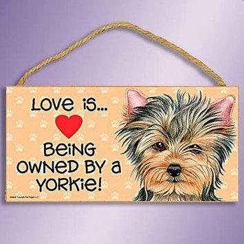 Sjt Enterprises Love Is Dog Sign Yorkie