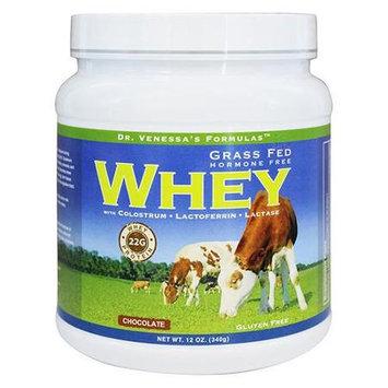 Dr. Venessas Formulas Dr. Venessa's Formulas - Grass Fed Hormone Free Whey Chocolate Flavor - 12 oz.
