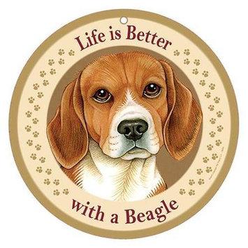Sjt Enterprises Life Is Better Breed Plaque Beagle