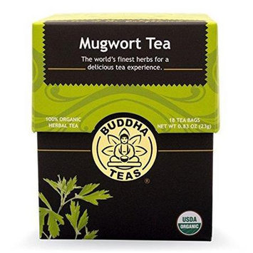 Buddha Teas Mugwort 100 Percent Organic Herbal Tea 18 Bags Per Packet