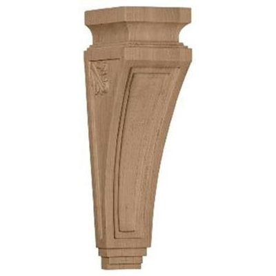 Ekena Millwork 3.875-in x 14-in Rubberwood Arts and Crafts Wood Corbel