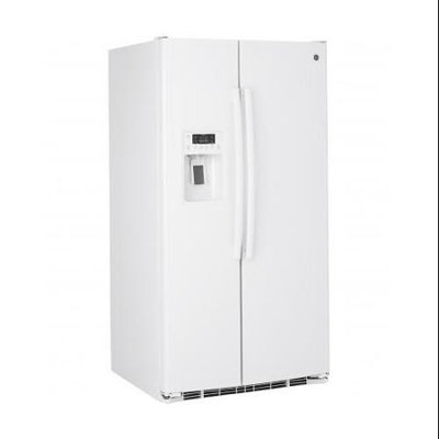 GE 25.9 cu. ft. Side by Side Refrigerator in White GSE26GGEWW