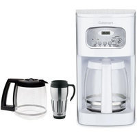 Cuisinart Brew Central 12-Cup Programmable Coffeemaker, White (Factory Refurb) w/Bundle