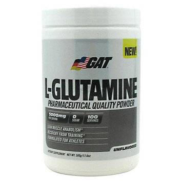 GAT L-Glutamine Unflavored - 500g (17.6 oz)