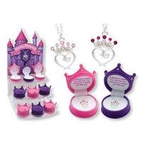 D.m. Merchandising DM Merchandising Petite Princess Crown Necklace - Purple