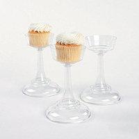 Clear Cupcake Pedestals (1 dz)