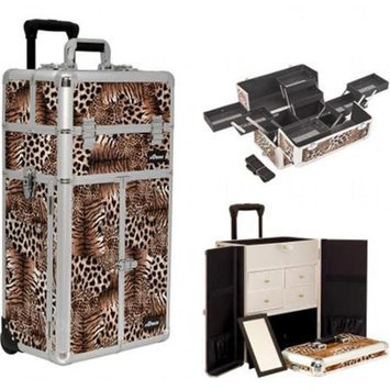 Sunrise Books Sunrise Outdoor Travel Leopard Trolley Makeup Case - I3665