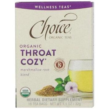 Choice Organic Teas - Wellness Teas Throat Cozy - 16 Tea Bags