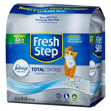 Fresh Step Total Control Clumping Cat Litter with Febreze (42 lbs.)