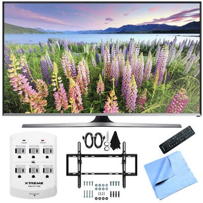 Samsung - Bundle UN50J5500 - 50-Inch Full HD 1080p Smart LED HDTV Flat & Tilt Wall Mount Bundle - E3SAMUN50J5500