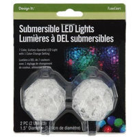 FloraCraft 2-Inch Submersible LED Lights, 2 Per Blister Pack, Batteries Included
