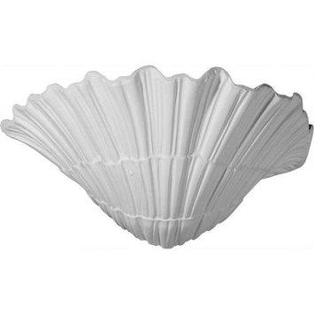 Ekena Millwork Shell 11.375-in x 6.625-in Polyurethane Sconce SCO11X07X06SH