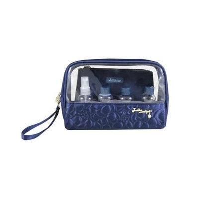 Jacki Design ABC14023DB Royal Blossom 6Pc Travel Set Dark Blue