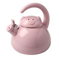 Whatonearth Whistling Pig Enamel Finish 2 Quart Teakettle