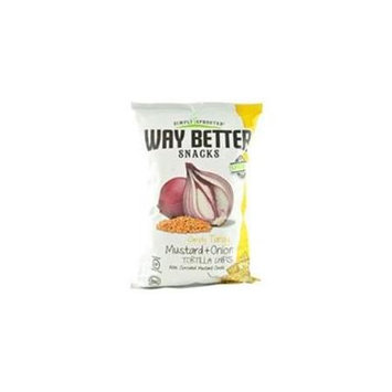 Way Better Snacks Simply Tangy Tortilla Chips Mustard and Onion 5.5 oz