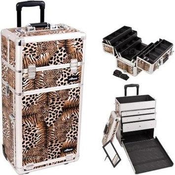 Just Case Sunrise Leopard Trolley Makeup Case